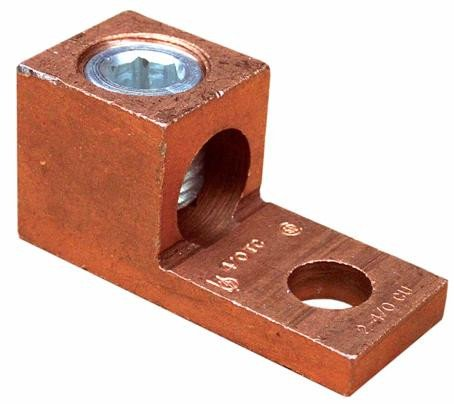 One Conductor Extruded Copper Connector With 4-14 Wire