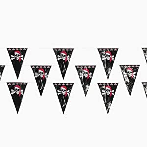 "Pirate Pennant Banner (48 Pack) 1-ft. X 18"" Plastic Pennants. 100 Ft"