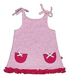 BUZZY Baby Girls' Dress (AZURA-07, Pink, 6-9 Months)