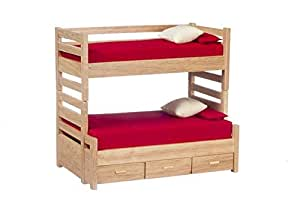 Aztec Imports Aztec Imports Dollhouse Miniature Oak Bunk Beds with Trundle