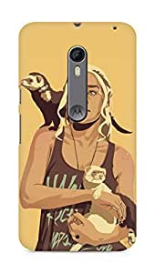 Amez designer printed 3d premium high quality back case cover for Motorola Moto X Style (DAENERYS)