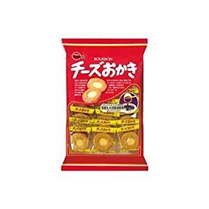 Bourbon Japanese Rice Cracker with Cheese, 22pcs/bag x 6
