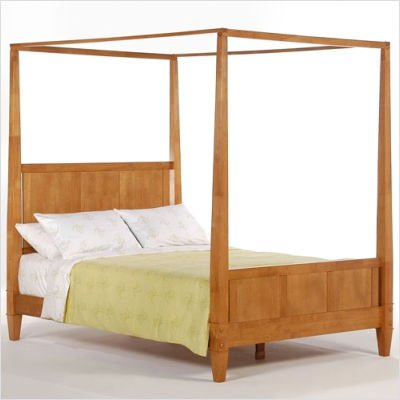 Night & Day PCH-LAU-MO / PCR-LAU-MO / PCP-LAU-MO Spices Bedroom Laurel Canopy Bed in Medium Oak