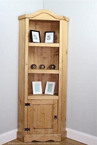 corona-distressed-mexican-waxed-solid-pine-rustic-1-door-3-shelf-corner-unit