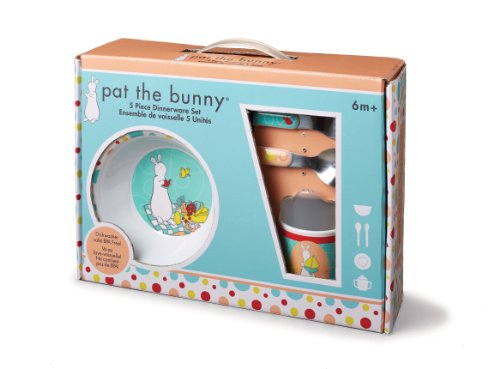 Kids Preferred Pat The Bunny: Melamine Feeding Set