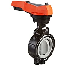 GF Piping Systems CPVC Butterfly Valve, Hand Lever with Ratchet Settings, EPDM Seal, 4""