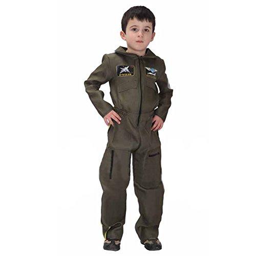 Jet Pilot Child Costume, Air Force Jumpsuit For Kid