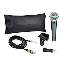 Krown Beta-58A Dynamic Vocal Karaoke Microphone with 3.5MM Connector