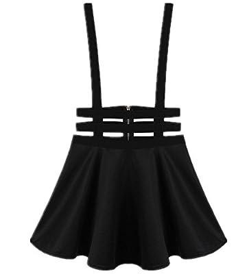 Women's Pleated Short Braces Suspender Skirt