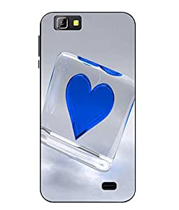 Case Cover Heart Printed Blue Soft Back Cover For LYF Wind 5