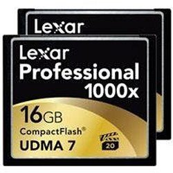 Lexar Professional 1000x 16GB CompactFlash Card 2-Pack LCF16GCTBNA10002