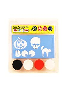 Face Painting Stencil Kits - Pumpkin & Skull (3 colors): Toys & Games