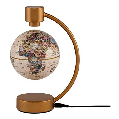 "Stellanova Home Office Decorative 4"" Antique Magnetic Levitating Globe"
