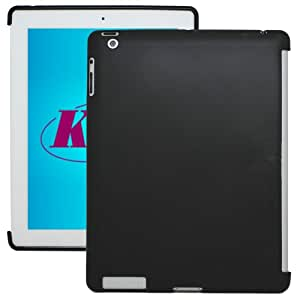 KaysCase Smart Solution Soft Gel Smart Cover Compatible Back Cover Case for Apple new iPad 3 iPad 4th Generation iPad 4 Retina Display (Black)