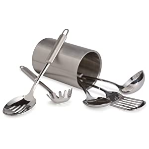 Pinzon 6 piece 18/8 Stainless-Steel Tool Set with Canister Holder