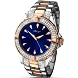 Seksy Intense by Sekonda Blue Dial Rose Gold Two Tone Bracelet Ladies Watch 2140