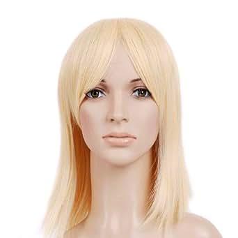 Blonde Shoulder Cut Anime Costume Cosplay Wig