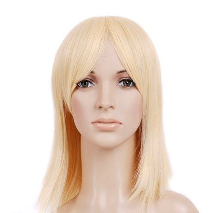 Blonde Shoulder Cut Anime Costume Cosplay Wig