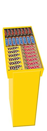 Mars Mixed Singles Prepack of Mars bars, Snicker bars, Twix bars and M&M's Peanut Candies, 96-Count
