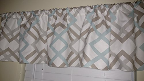 diamonds-taupe-french-grey-and-pale-blue-valance-curtains-stripes-lines-window-treatments-home-decor