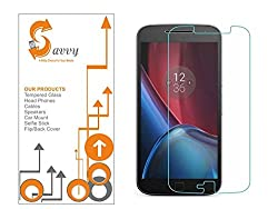 SAVVY - MOTOROLA Moto G4 Plus Premium Tempered Glass Screen Protector for Motorola Moto G Plus 4th Gen (G4)