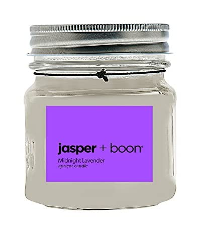 Bluewick Candles 8-Oz. Midnight Lavender Jasper + Boon Mini Mason Candle As You See