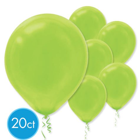 Lime Green 12in Latex Balloons 20ct by PMU - 1