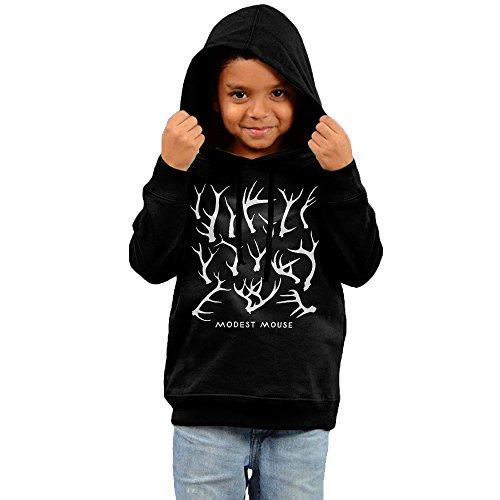 [RTRY Kids Modest Mouse Boy's & Girl's Hoodies Black Size 4 Toddler] (Modest Nerd Costume)
