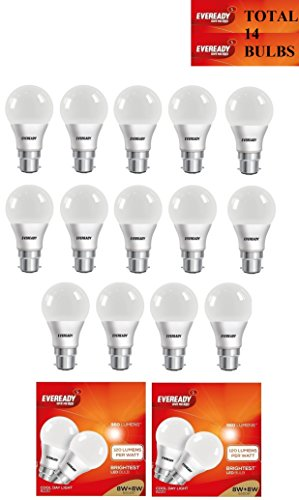 8W LED Bulbs (Cool Day Light, Pack of 14)