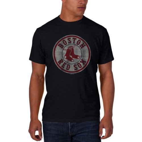 MLB Boston Red Sox Men's '47 Basic Scrum Tee, Fall Navy - Logo, Large (Red Sox Mlb compare prices)