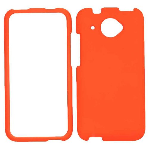 Cell Armor Snap-On Case for HTC Desire 601 - Retail Packaging - Fluorescent Orange
