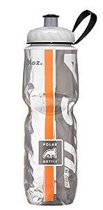Polar Bottle Insulated Water Bottle, Orange/Black, 24-Ounce