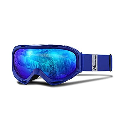 OutdoorMaster Mirrored OTG Ski Goggles for Men and Women