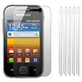 SAMSUNG GALAXY Y S5360 SCREEN PROTECTOR / GUARD / FILM / COVER, 6-IN-1 PACK PART OF THE QUBITS ACCESSORIES RANGE