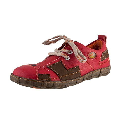 TMA EYES 2618 Schnürer Gr.36-42 mit bequemen perforiertem Fußbett 100% Leder 39.35 super leichter Schuh der neuen Saison. ATMUNGSAKTIV in Rot Gr.36