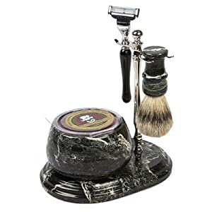Colonel Conk No.241 Hand Crafted Shave Set, Chrome
