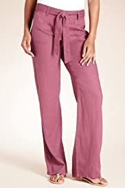 Linen Blend Straight Leg Trousers [T54-4040-S]