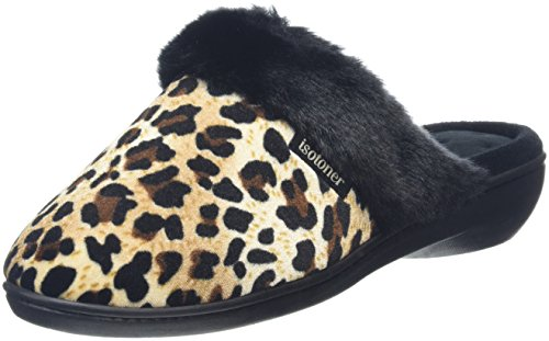 isotonerheeled-velour-with-fur-cuff-pantofole-donna-multicolore-multicolor-panther-black-41