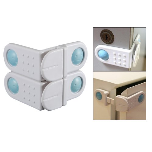 2 Pcs Bendy Baby Child Infant Toddler Kids Safe Safety Door Wardrobe Cabinet Drawer Fridge Lock - 1