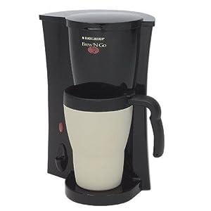 Black & Decker DCM18 Brew 'N Go Coffeemaker, Black/White