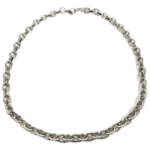 Kaon Stainless Steel Faceted Wide Cable Chain Men Necklace 9.5MM 40 inches