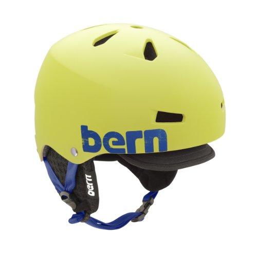 Bern Herren Helm Macon, EPS, Auskleidung aus schwarzem gestricktem Stoff Matte Neon Yellow Large/X-Large