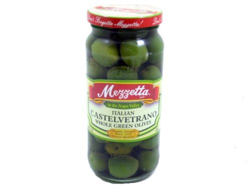 Mezzetta Castelvetrano Whole Green Olive, 10 Ounce -- 6 per case.