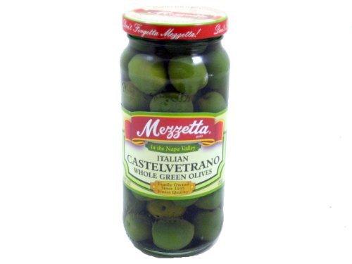 Mezzetta Castelvetrano Whole Green Olive, 10 Ounce -- 6 per case. gefen classic marinara pasta sauce 26 ounce 12 per case