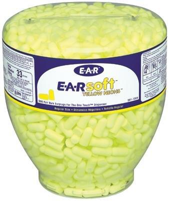Uncorded 5 Pairs//Bag ES-01-001SP 3M E-A-R E-A-Rsoft Yellow Neons Earplugs 36 dB