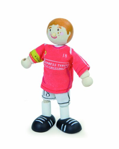 Budkins Soccer Player Footballer #18 Toy Figure, Red