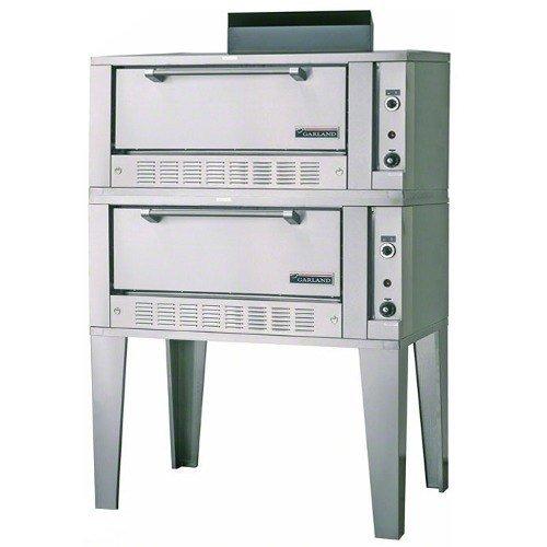 "Liquid Propane Garland G2122 55 1/4"" Double Deck Gas Roast Oven - 80,000 Btu"