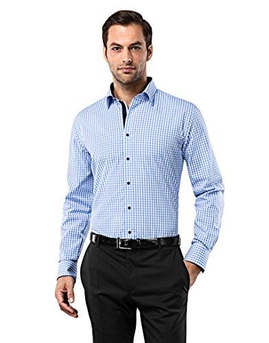 vincenzo-boretti-mens-shirt-slim-fit-non-iron-checked-withblue-white165neck