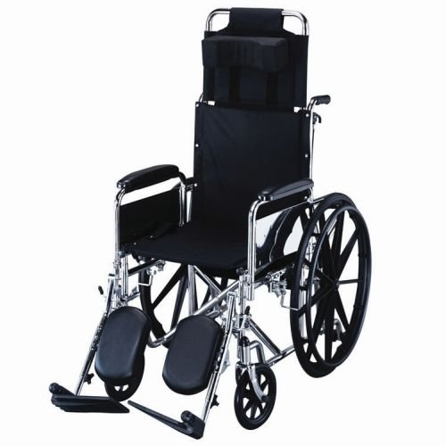 """Roscoe Medical Removable Full-Length Arms, Elevating Legrest 18"""" R-Series Reclining Wheelchair"""