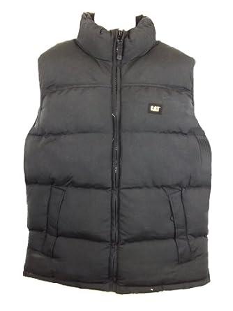 Size Small Caterpillar W12430eu Black Zip Up Polyester Gilet Body Warmer